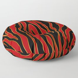 Zebra Red and Gold Floor Pillow
