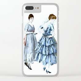 Two Vintage Dresses Clear iPhone Case