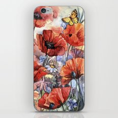 watercolor poppies iPhone & iPod Skin