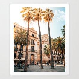 Plaça Reial Barcelona Art Print