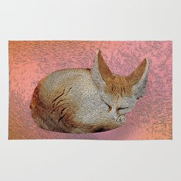 Sleeping fox. Rug