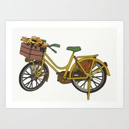 A Bike in Amsterdam Art Print