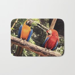 couple of macaws - casal de araras Bath Mat