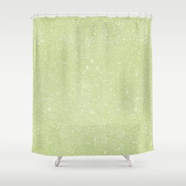 Pastel Green Glitter Shower Curtain