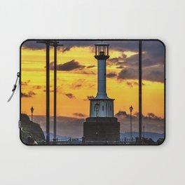 Maryport Lighthouse At Sunset Laptop Sleeve