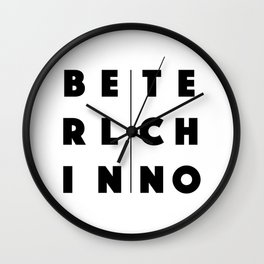 Berlin Techno Wall Clock