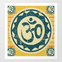 om Art Prints featuring om by crows nest