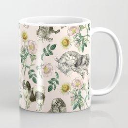 DOG ROSE & TOY SPANIEL PATTERN  Coffee Mug