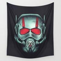 hero Wall Tapestries featuring Ant-hero by Victor Vercesi