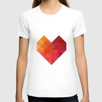 xbox T-shirts featuring Heart by Dizzy Moments