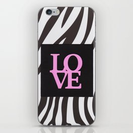 Love and black & white iPhone Skin