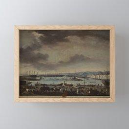 Juan Patricio Morlete Ruiz - View of the Old Port of Toulon (El puerto viejo de Tolón) Framed Mini Art Print