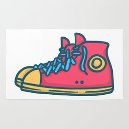 Chuck Taylors Inspired Vintage Pop Shoes Rug