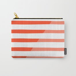Beach Stripes Red Pink Carry-All Pouch