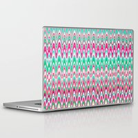 preppy Laptop & iPad Skins featuring Making Waves Pink and Preppy by Shawn King
