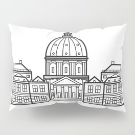 Marble Church Copenhagen Denmark Black and White Pillow Sham