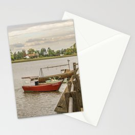Fishing Boats at Santa Lucia River in Montevideo, Uruguay Stationery Cards