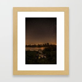 Perseid night Framed Art Print
