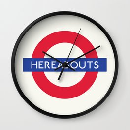 Hereabouts   TFL Wall Clock