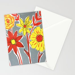 Contemporary florals Stationery Cards