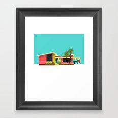 Mid Century House, Miami Framed Art Print