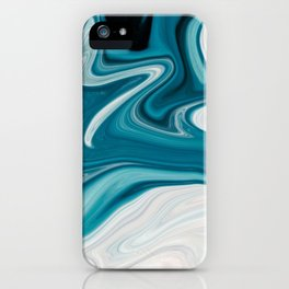 Abstract painting blue iPhone Case