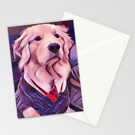 Golden Retriever 1st Day of School Stationery Cards