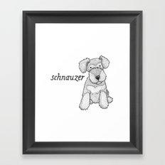 Dog Breeds: Schnauzer Framed Art Print