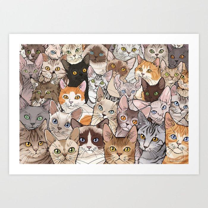 A lot of Cats Kunstdrucke