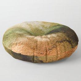 ABSTRACT GOLD TANGERINE AQUARELL Floor Pillow