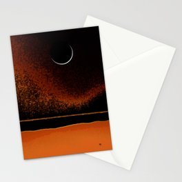 March New Moon Stationery Cards