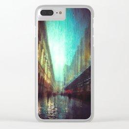 In the Rain Clear iPhone Case