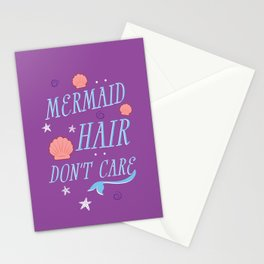 Mermaid Hair Don't Care Stationery Cards