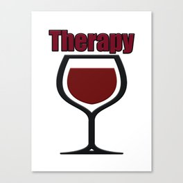 wine therapy Canvas Print