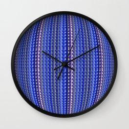 Mega Bright Indigo Lavender Blue Psychedelic Pattern Wall Clock