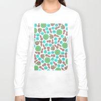 ghibli Long Sleeve T-shirts featuring Ghibli Pattern by pkarnold + The Cult Print Shop