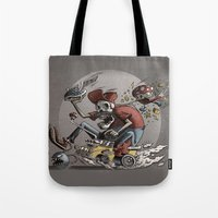 mario kart Tote Bags featuring Death Kart by Calakka
