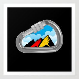 Climbing Carabiner with Germany Flag Art Print