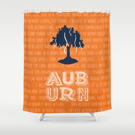Auburn Creed Shower Curtain