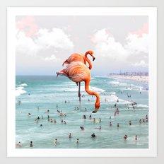 Beaching Around Art Print