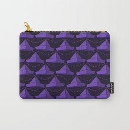Paper Hats Pattern | Violet Carry-All Pouch
