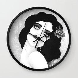 SINNER & SAINT  Death is only a Dream - Black n white  Wall Clock