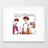 ferris bueller Framed Art Prints featuring Ferris Bueller is my Hero by geo22273