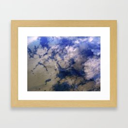 Puddles Can Reflect Too Framed Art Print