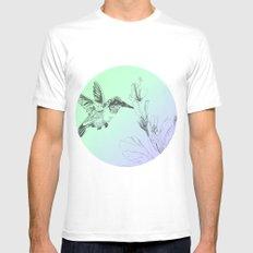 Hummingbird MEDIUM Mens Fitted Tee White