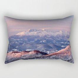 Beautiful sunrise in the Tatra mountains Rectangular Pillow