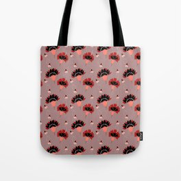 Coral Vintage Tote Bag