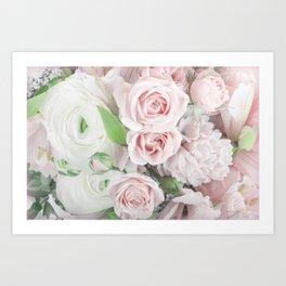 Pastel Pink Flowers Art Print