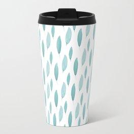 Turquoise Leaves Travel Mug