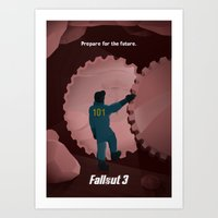 fallout 3 Art Prints featuring Fallout 3 by Will Crase